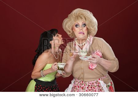 Funny Women With Teacups