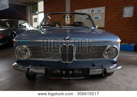 Paaren Im Glien, Germany - June 08, 2019: Compact Executive Car Bmw 1600 Cabriolet (bmw 02 Series).