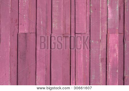 Pink Color Paint Plank Wall