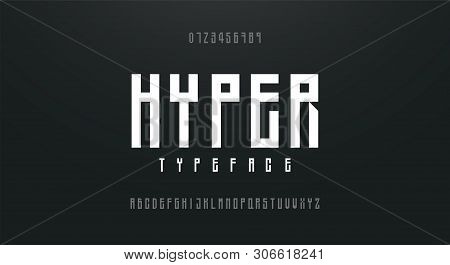 Condensed High, Tall Simple Font Alphabet Typeface. Modern Alphabet Fonts. Typography Urban Style Le