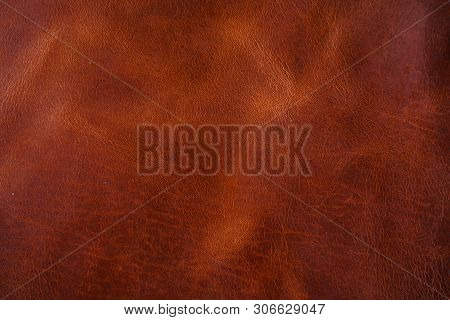 Genuine Red Brown Leather Luxury Background