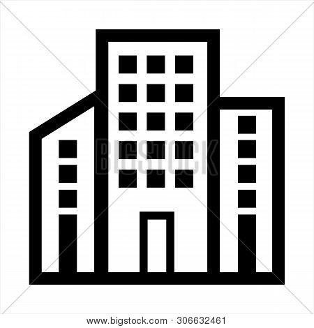 Buildings Icon Isolated On White Background From Business Administration Collection. Buildings Icon