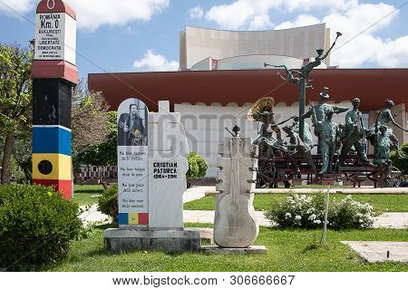 Bucharest, Romania - May 30, 2019: The Monument To Cristian Paturca The Composer Of A Song Called Th