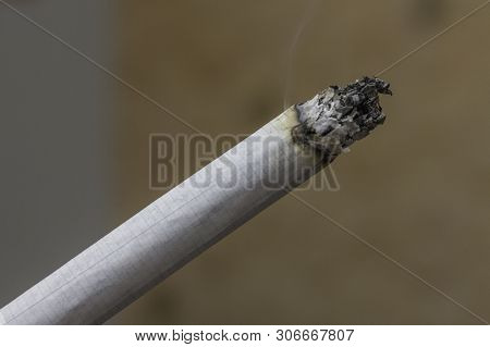 Cigarette Close Up. Smoking Tobacco. Bad Habit. Deadly Danger. Harm Of Smoking. Source Of Disease. S