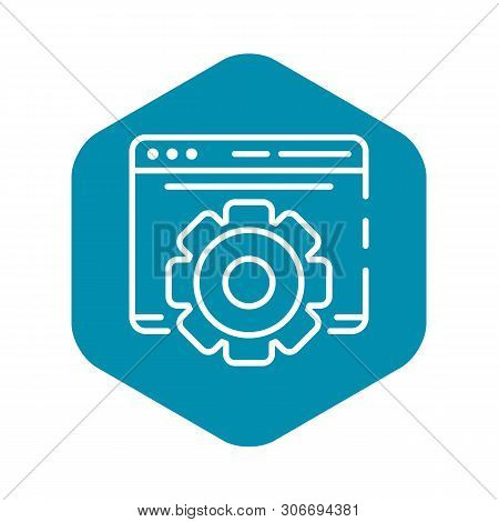 Gear Site Vlog Icon. Outline Gear Site Vlog Vector Icon For Web Design Isolated On White Background