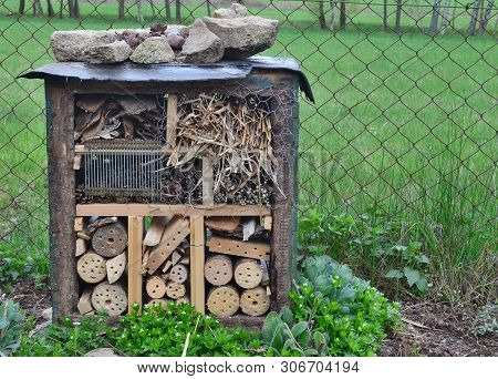 Wooden Garden Insect House, South Bohemia, Czech Republic