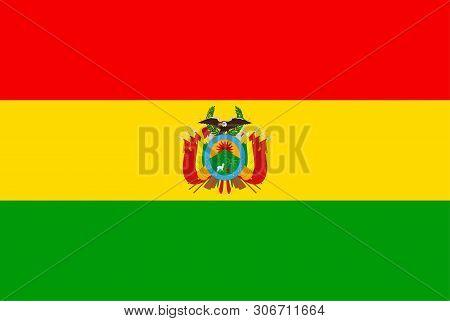 Bolivia Flag. Sovereign State Flag Of Bolivia