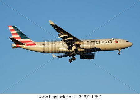 American Airlines Airbus A330-200 N293Ay Passenger Plane Landing At Madrid Barajas Airport