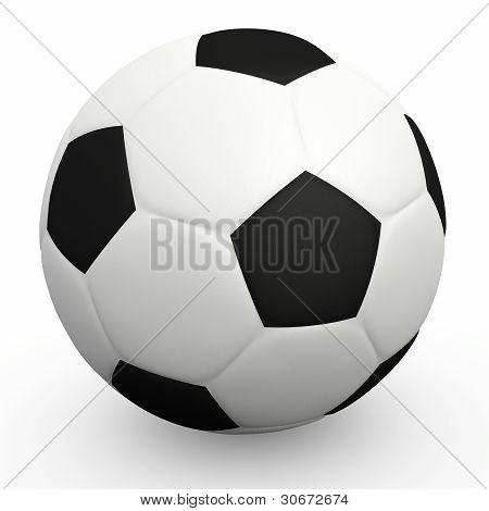 Football ball over white