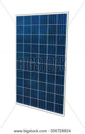 Solar Panel Isolated On White Background With Clipping Path