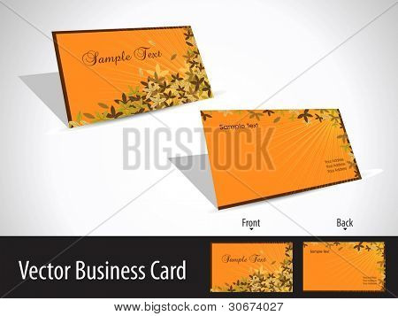 Floral and rays concept professional business card set Vector illustration easy to edit.
