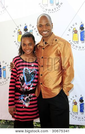 LOS ANGELES, CA - MAR 4: Jesse Campbell, daughter Soraya at the I Have A Dream Foundation's 14th Annual Dreamers Brunch at The Skirball Cultural Center on March 4, 2012 in Los Angeles, California