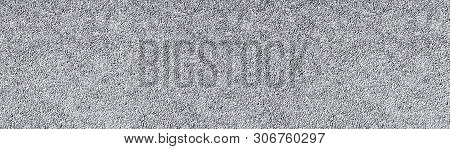 Light Gray Stone Wall Wide Texture. White Washed Pebble Dash Panoramic Background