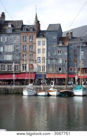 Historical Buildings In Honfleur, France