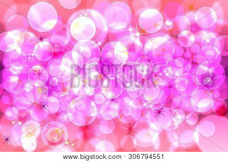 Abstract Blurred Background. Pink Colors Defocused Bokeh Pattern Wallpaper.