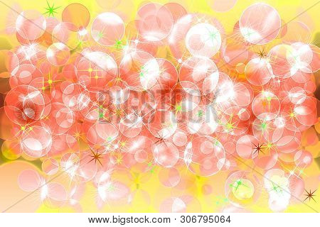 Multicolored Defocused Bokeh Pattern Wallpaper. Abstract Blurred Background.