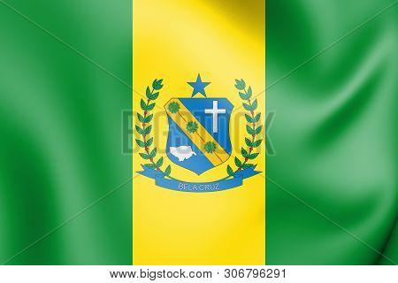 3d Flag Of Bela Cruz (ceara), Brazil. 3d Illustration.