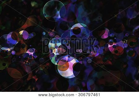 Dark Abstract Defocused Pattern Wallpaper. Blurred Background.