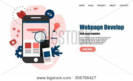 Webpage Template. Creative Webpage Development And Web Design Concept.