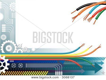Industrie-Automation-Hintergrund
