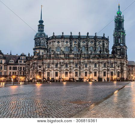 German Katholische Hofkirche And Since 1980 Also Known As Kathedrale Sanctissimae Trinitatis.