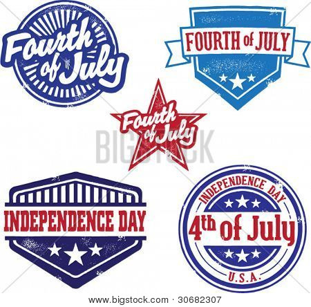 Fourth of July and Independence Day Vintage Stamps