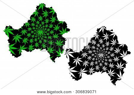 Bryansk Oblast (russia, Subjects Of The Russian Federation, Oblasts Of Russia) Map Is Designed Canna