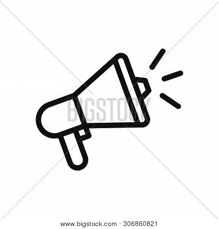 Megaphone Icon Isolated On White Background. Megaphone Icon In Trendy Design Style. Megaphone Vector