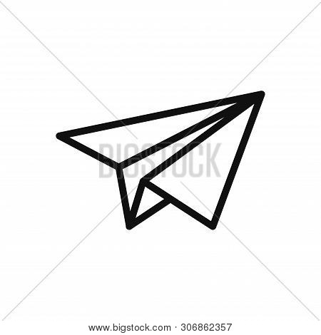 Paper Plane Icon Isolated On White Background. Paper Plane Icon In Trendy Design Style. Paper Plane