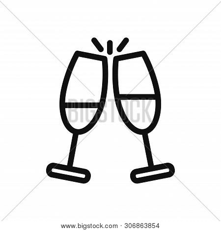 Cheers Icon Isolated On White Background. Cheers Icon In Trendy Design Style. Cheers Vector Icon Mod