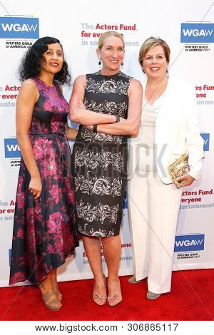 LOS ANGELES - JUN 9: Fatna Sallak-Williams, Jane Austin, Ilyanne Morden Kichaven at The Actors Fund's 23rd Annual Tony Awards Viewing Gala honoring Lily Tomlin on June 9, 2019 in Los Angeles, CA