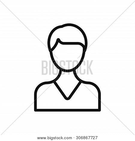 Business Woman Icon Isolated On White Background. Business Woman Icon In Trendy Design Style. Busine