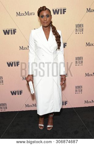LOS ANGELES - JUN 12:  Issa Rae arrives for the 2019 Women In Film Annual Gala on June 12, 2019 in Beverly Hills, CA