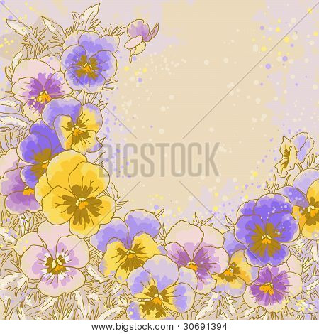Background with pansy