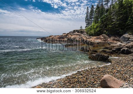 Little Hunters Beach In Acadia National Park In Maine, United States