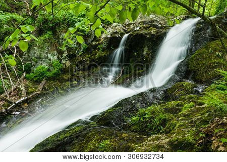 Lands Run Falls In Shenandoah National Park In Virginia, United States