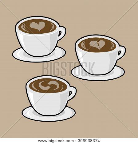 Set Of Coffee Logo Vector Illustration. Espresso Coffee Icon Collection Symbol. Espresso Coffee Sign