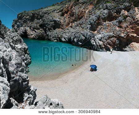 Beautiful kalami lagoon on Kythira island, Greece.