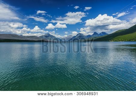 Lake Mcdonald In Glacier National Park In Montana, United States