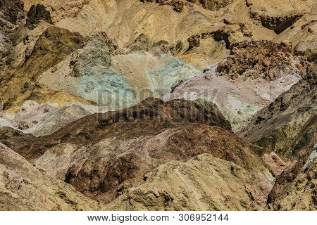 Artist Palette In Death Valley National Park In California, United States