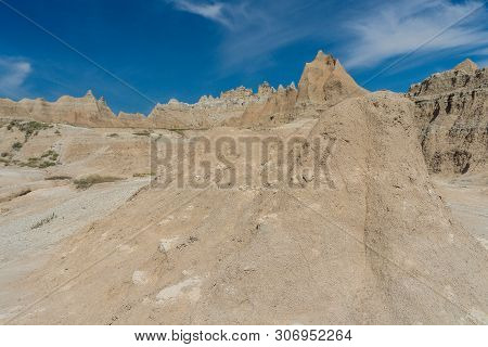 Fossil Trail In Badlands National Park In South Dakota, United States