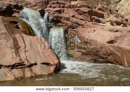 Fremont River Gorge In Capitol Reef National Park In Utah, United States