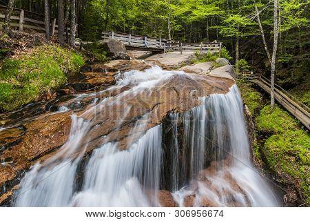 Avalanche Falls, Flume Gorge, Franconia Notch State Park, New Hampshire, United States
