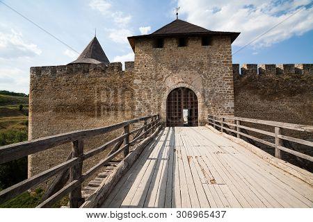 Khotyn, Ukraine - July 29, 2009: Main Gateway To Khotyn Fortress In Ukraine