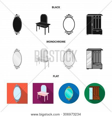 Isolated Object Of Imagery And Decorative Sign. Set Of Imagery And Silver Stock Symbol For Web.
