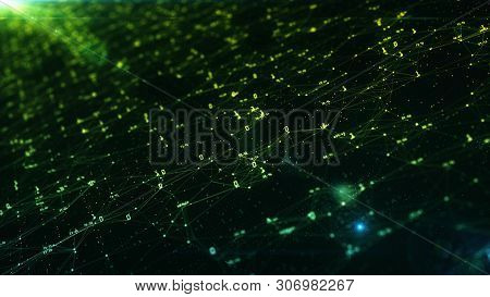 Abstract Digital Technology Background. Artificial Intelligence And Machine Learning Concept.