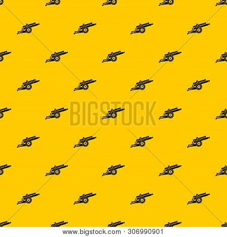 Artillery Gun Pattern Seamless Vector Repeat Geometric Yellow For Any Design