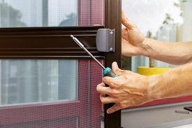 Mosquito Net Wire Screen Door Installation Process