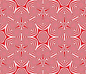Abstract seamless red and white pattern