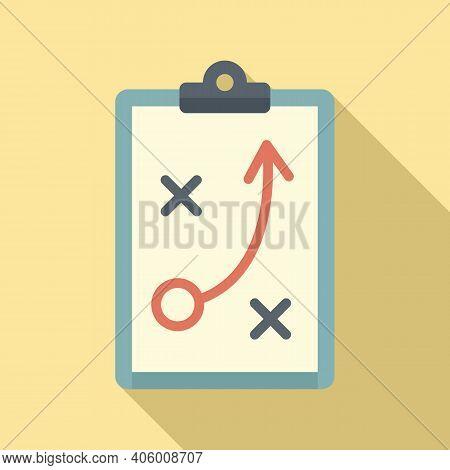 Life Skills Tactical Board Icon. Flat Illustration Of Life Skills Tactical Board Vector Icon For Web